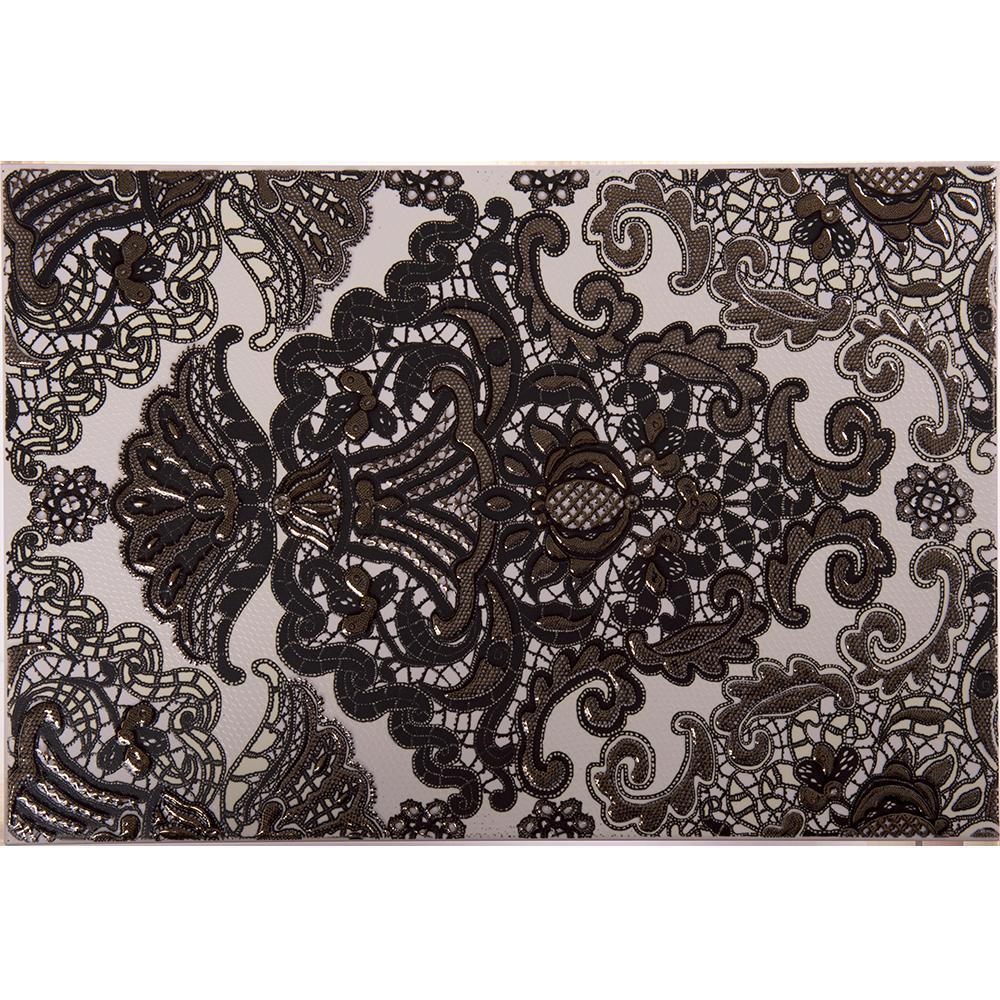 Decor interior negru Organza, 27,5 x 40 cm