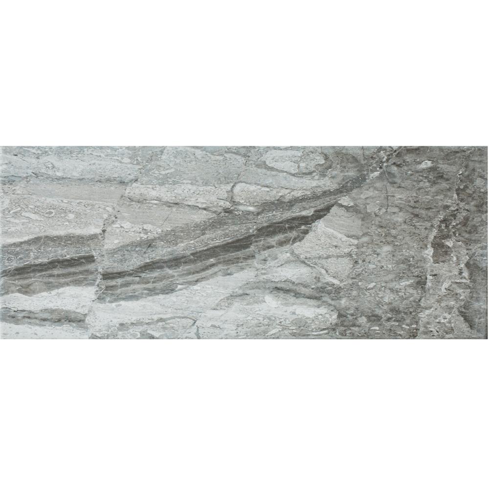 Faianta Style for Ceramic Troia Dark Grey 918 B, gri inchis, aspect de piatra, lucioasa, 21 x 52 cm imagine 2021 mathaus