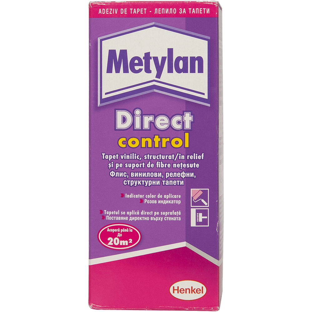 Adeziv pentru tapet, Metylan Direct Control, interior, 200 gr imagine 2021 mathaus
