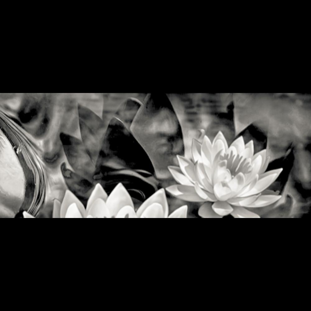 Faianta ceramica Keramin, lucioasa, stil elegant, alb/negru, 20 x 50 cm