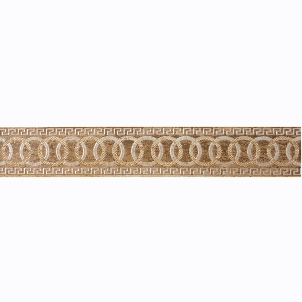 Braul pentru faianta Travertino Rock Ivory Rosstic, bej, mat, 9.5 x 60 cm
