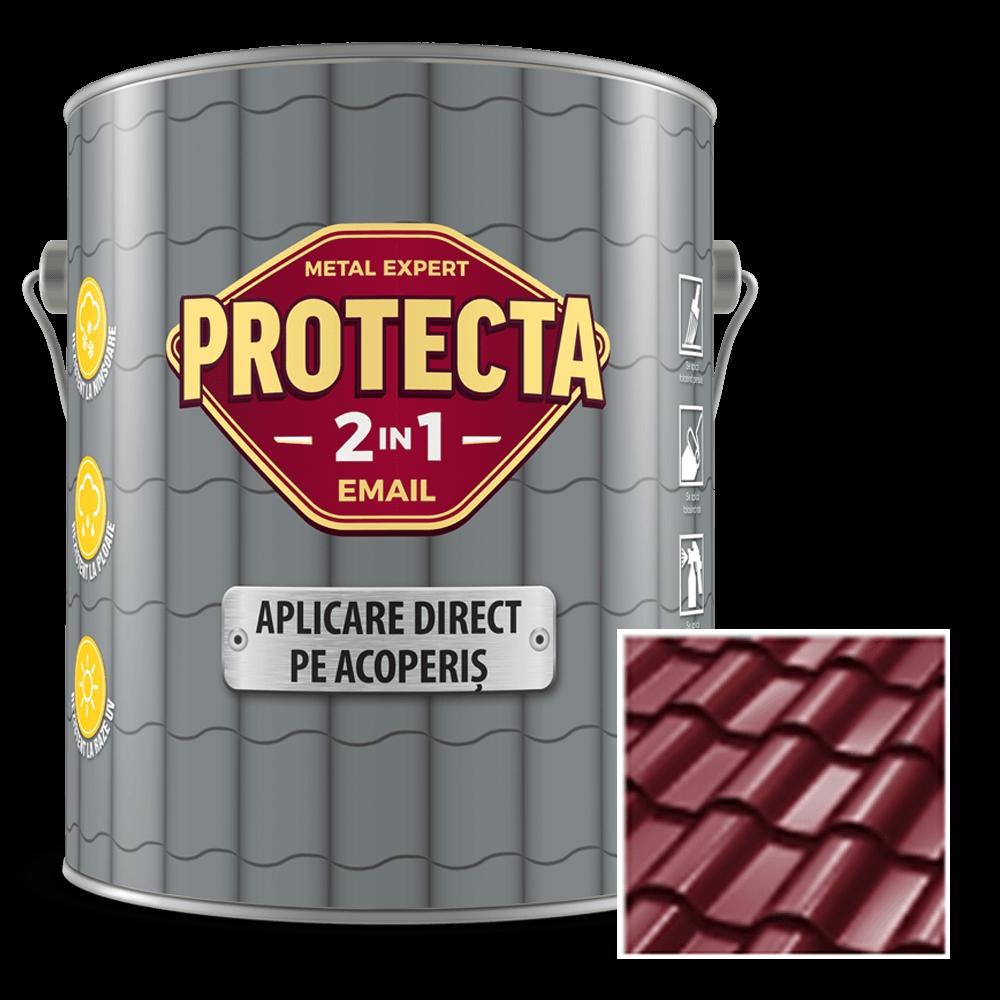 Email pentru acoperis Protecta 2 in 1, maro roscat, 4 l imagine 2021 mathaus