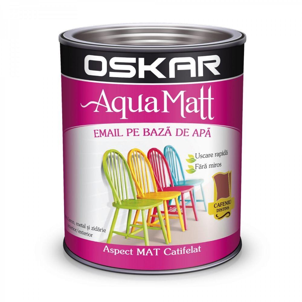Vopsea email Oskar Aqua Matt, cafeniu, 2,5 l imagine 2021 mathaus