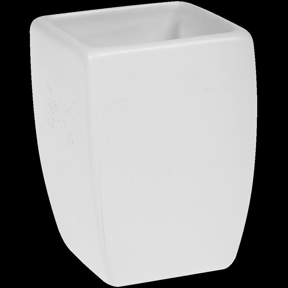 Pahar de baie Romtatay Thai, ceramica, alb, 7 x 7 x 10 cm imagine 2021 mathaus