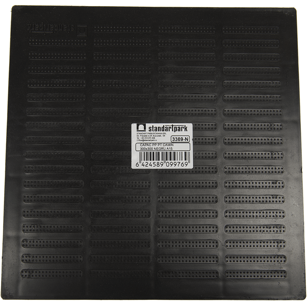 Capac de camin Polymax Basic, polipropilena, 300 x 300 mm, negru mathaus 2021
