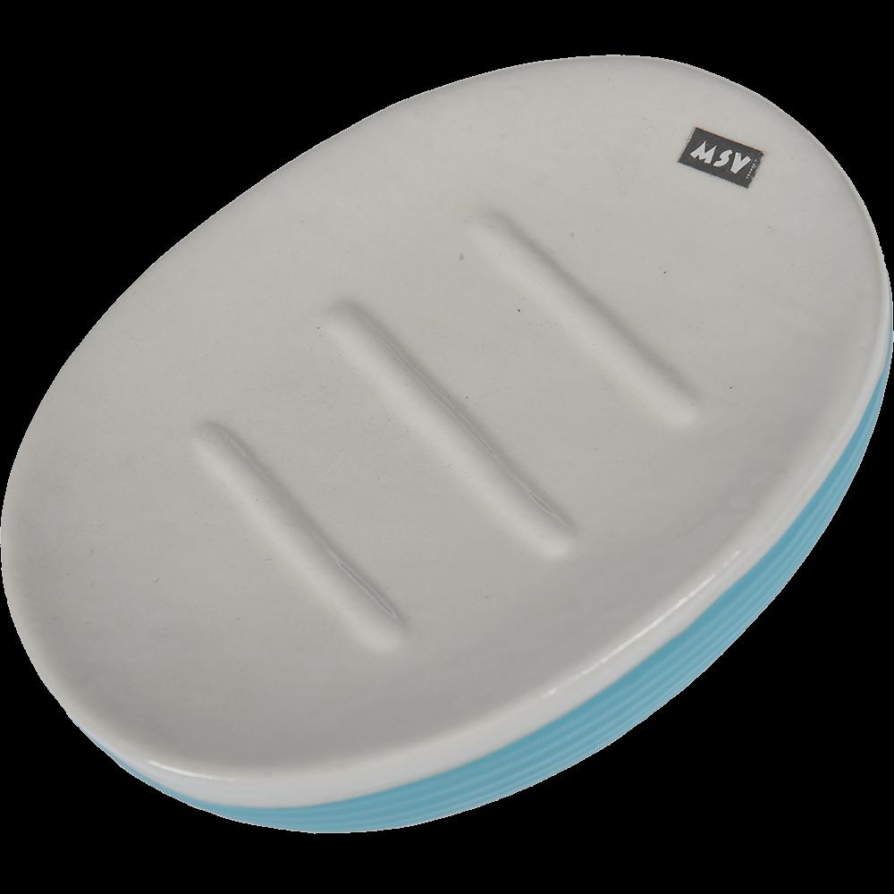 Savoniera Romtatay Moorea, ceramica, alb-bleu, 12.5 x 9 x 3.5 cm mathaus 2021
