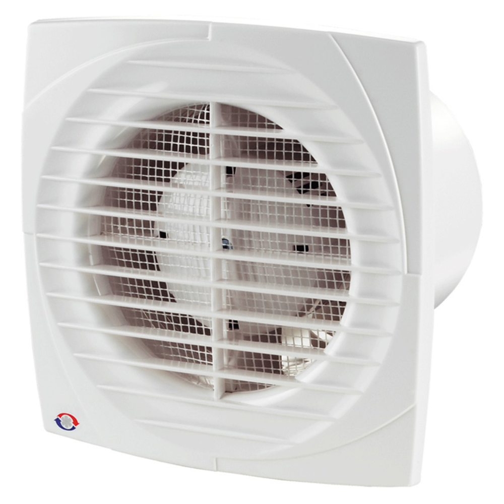 Ventilator de baie Vents D, intrerupator pe fir, D 100 mm, 14 W, 2300 rpm, 95 mc/h, alb mathaus 2021