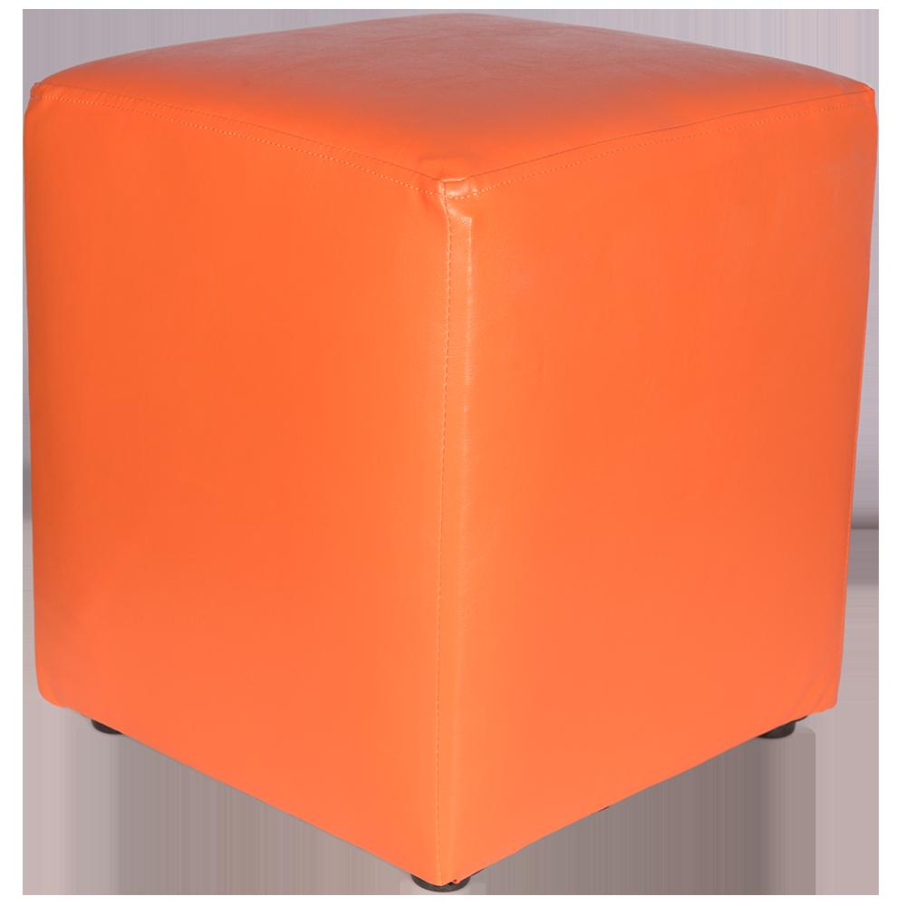 Taburet Cube tapiterie piele ecologica orange IP 21895 45x37x37 cm