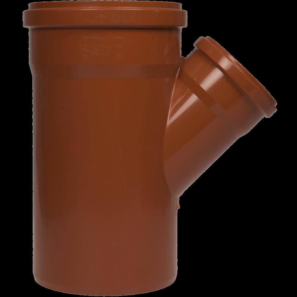 Ramificatie pentru canalizarea exteriorara Valplast, PVC, 45 grade, 200 x 125 mm