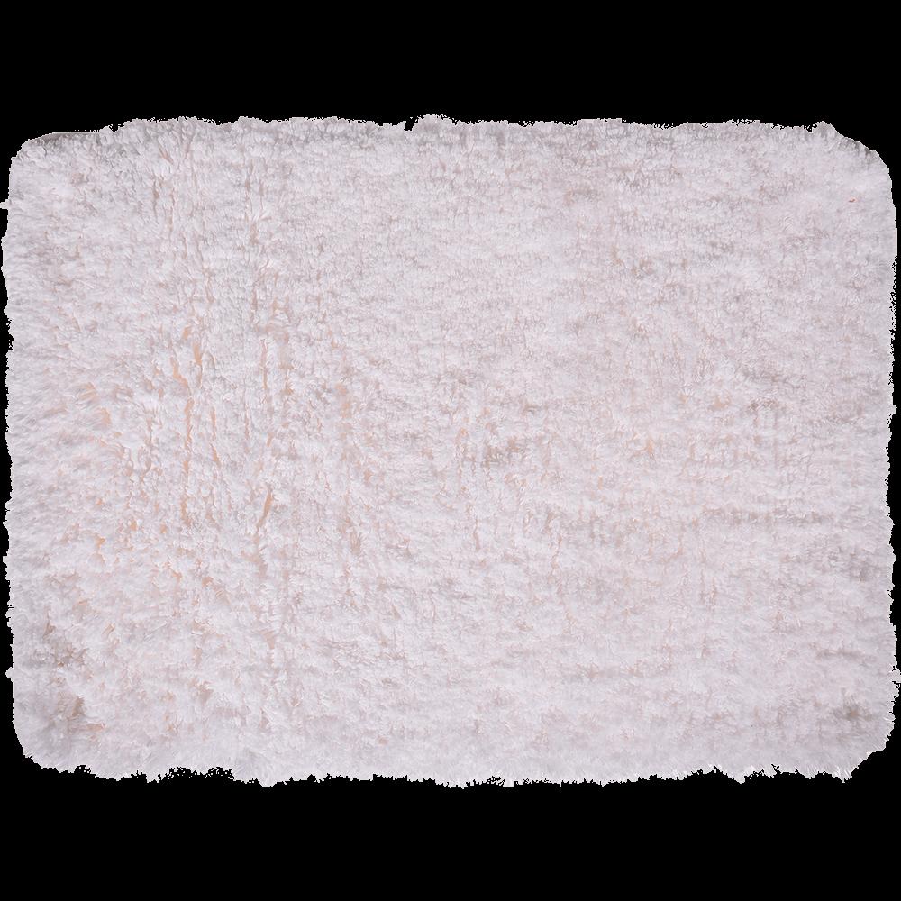 Covoras de baie, microfibra 100%, alb, 50 x 70 cm