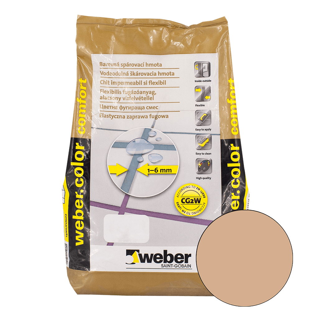 Chit de rosturi Weber Color Comfort, mocha, 2 kg imagine 2021 mathaus