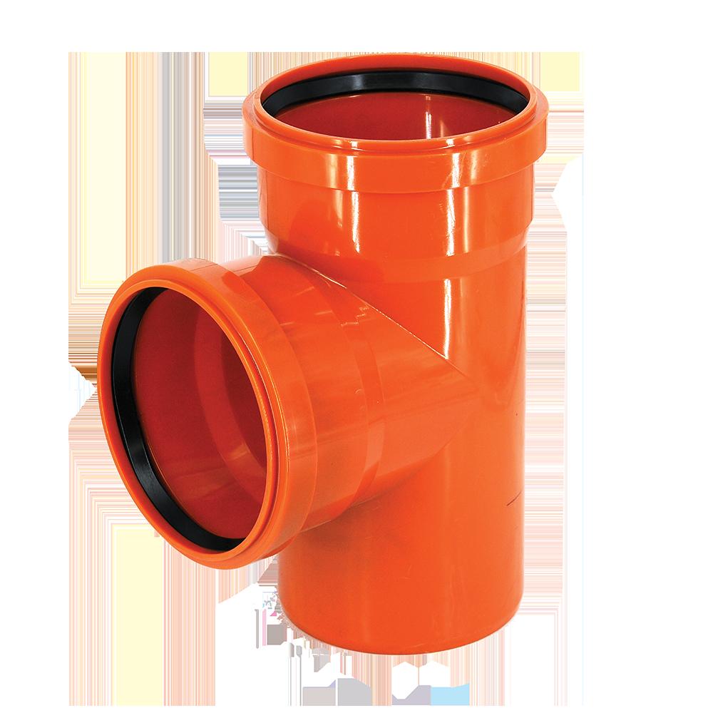 Ramificatie pentru canalizare exterioara Valplast, PVC, 160 x 160 mm, 87 grade
