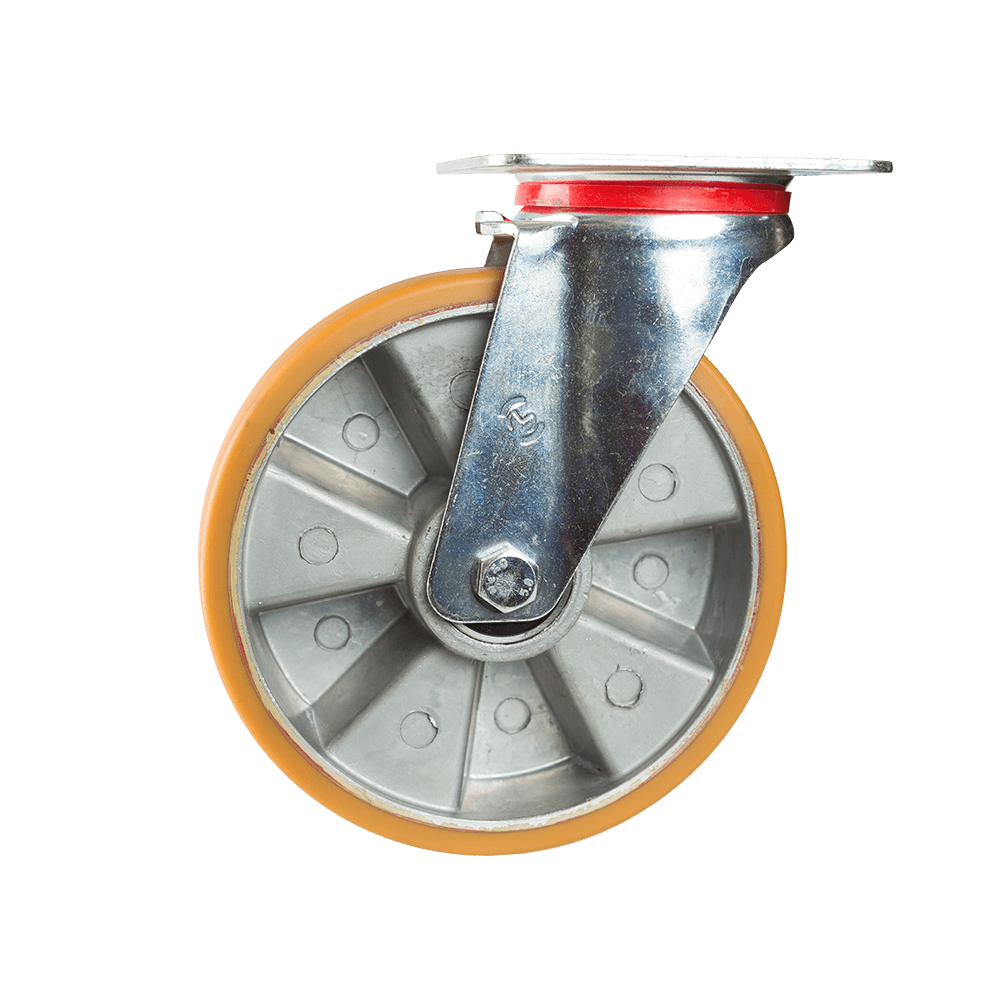 Rola pivotanta cu placa, poliuretan, 200 x 50 mm, 400 kg mathaus 2021