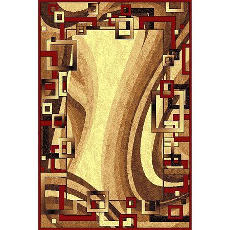 Covor clasic Gold 355/122, polipropilena BCF, bej-maro, 50 x 80 cm