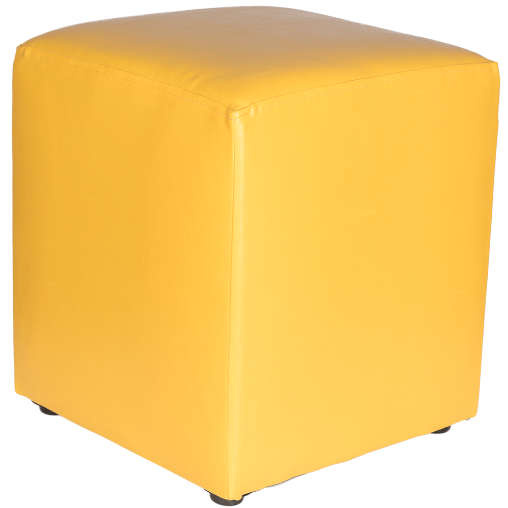 Taburet Cube tapiterie piele ecologica galben IP 22168 45x37x37 cm