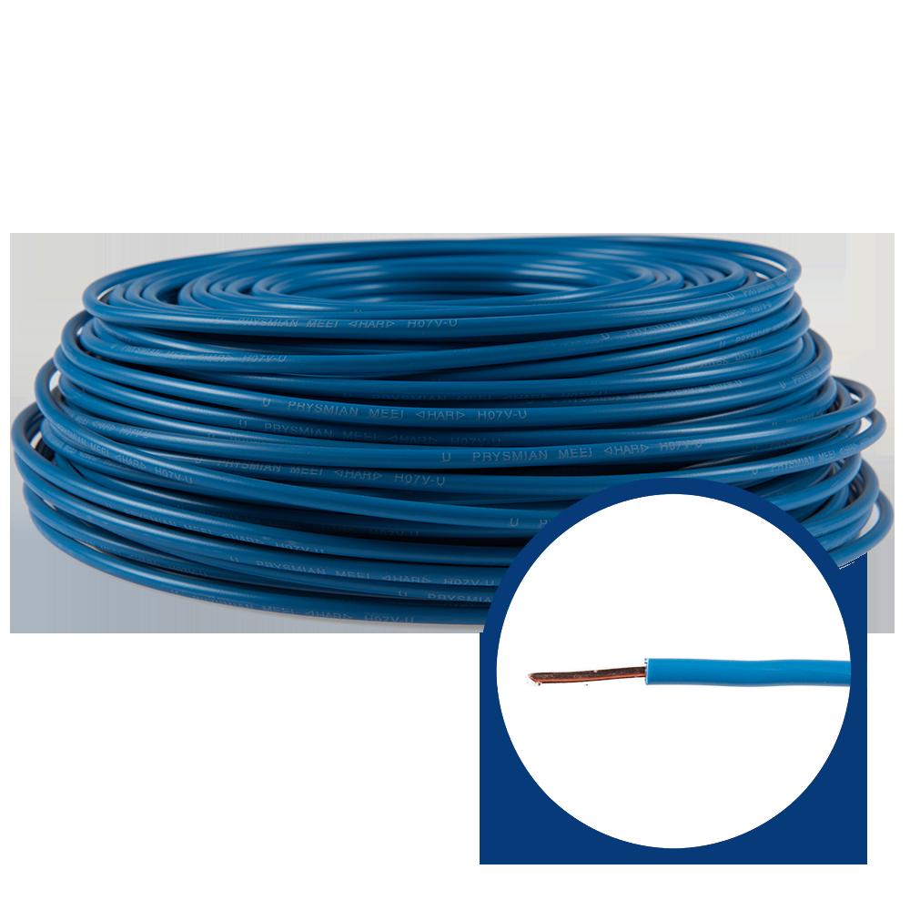 Cablu electric FY (H07V-U) 6 mmp, izolatie PVC, albastru