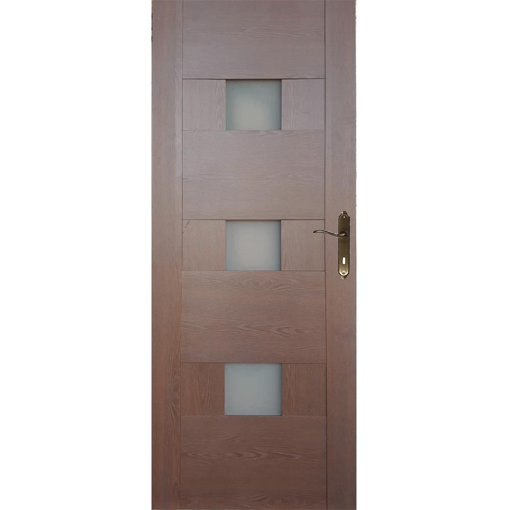 Usa interior cu geam M103, stejar auriu, 200 x 80 cm + toc 10 cm imagine 2021 mathaus