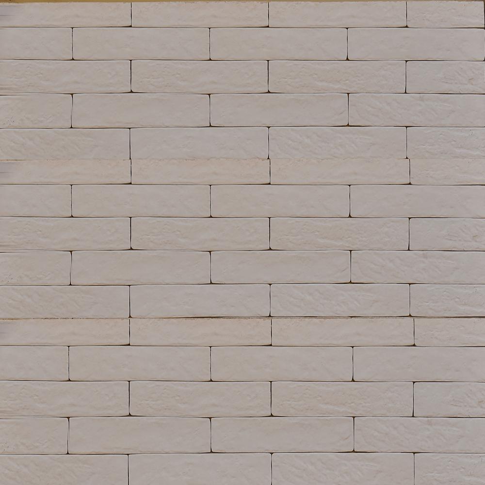 Placa portelanata Strand Alb, 25 x 6 cm, finisaj mat mathaus 2021
