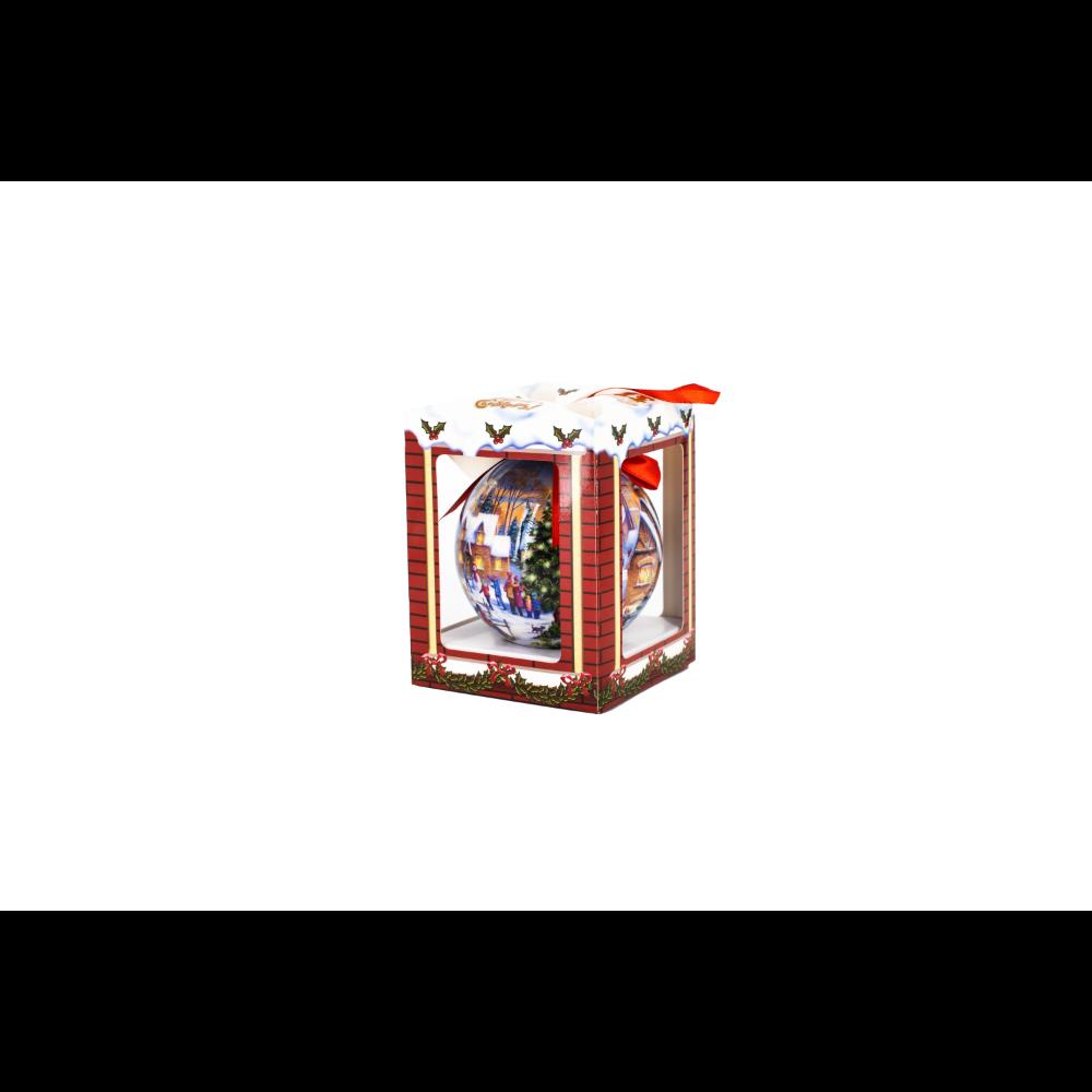 Glob decorativ de Craciun cu 6 leduri flashing, plastic, 10 cm