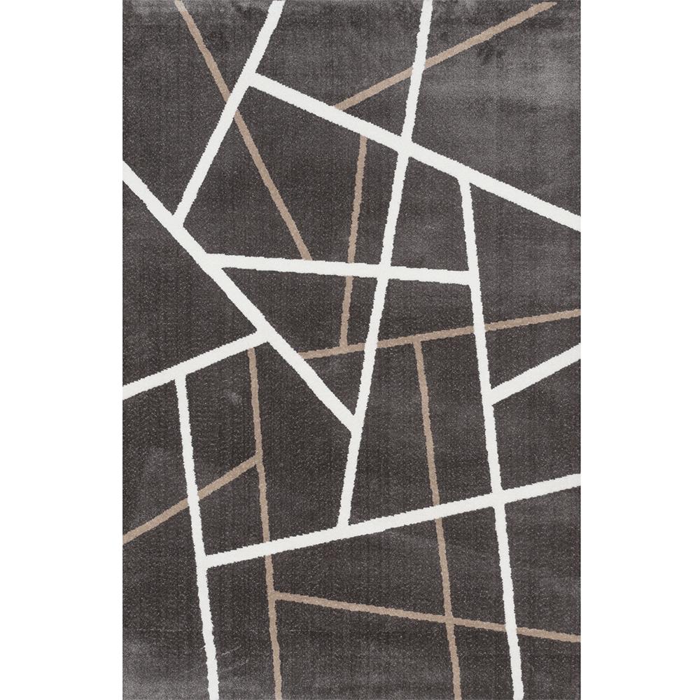 Covor modern Sintelon Creative 12GWG, poliester, model geometric maro, 140 x 70 cm mathaus 2021