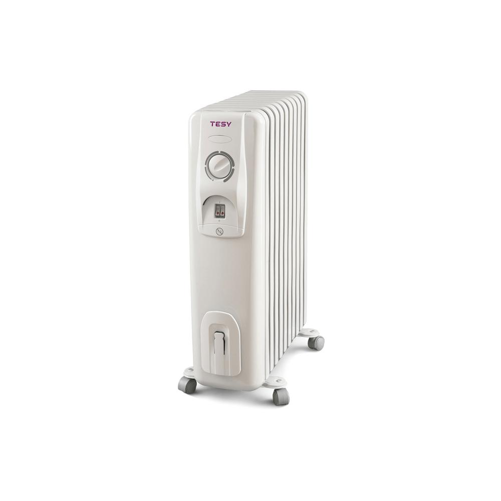Calorifer electric cu ulei Tesy Seria CC 2510 E05R, 2500 W, 10 elementi, 3 trepte incalzire, termostat mecanic, 65 x 29 x 49 cm imagine 2021 mathaus