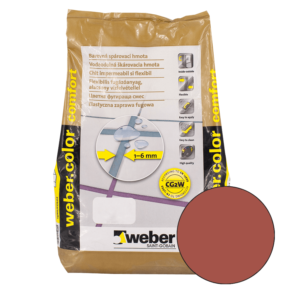 Chit de rosturi Weber Color Comfort, dark brick, 2 kg imagine 2021 mathaus