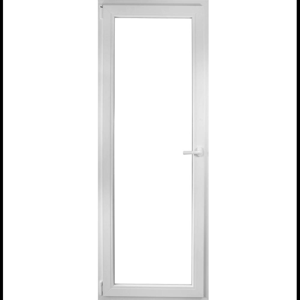 Usa PVC pentru balcon, alba, 76 x 204 cm, stanga