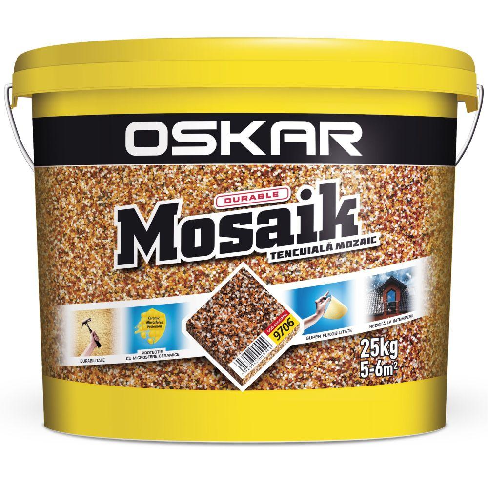 Tencuiala decorativa de tip mozaic Oskar 9706, 25 kg