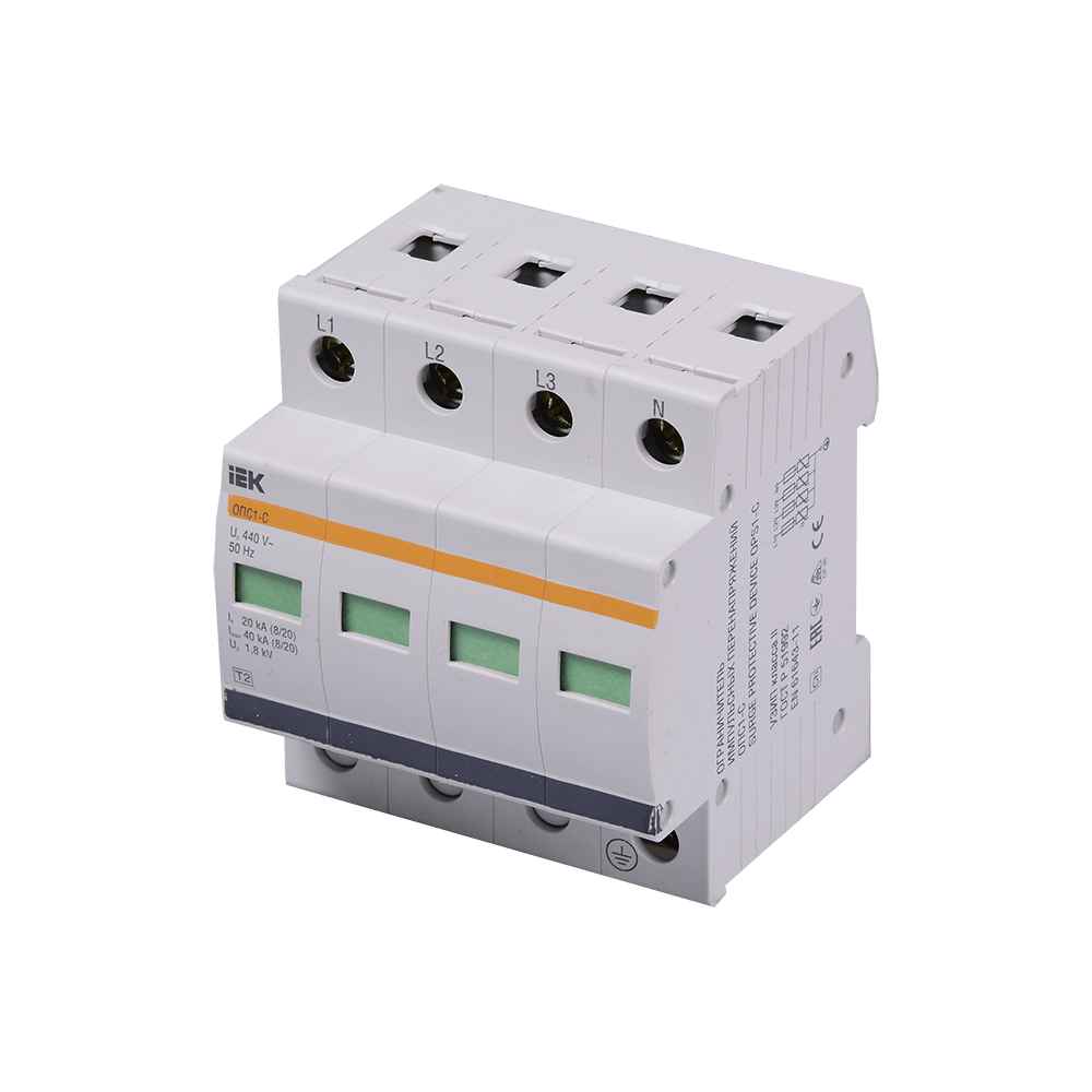 Dispozitiv de protectie la supratensiune IEK OPS1-C4P, 4 poli, max, 400V, IP 23 mathaus 2021