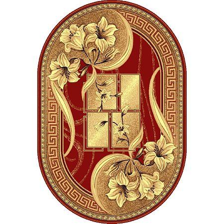 Covor clasic Gold O 365/22, polipropilena BCF, rosu-bej, 50 x 80 cm