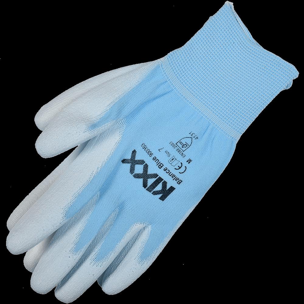 Manusi pentru gradina Marvel Kixx Balance Blue, nylon si poliuretan,  marimea 7, albastru si alb
