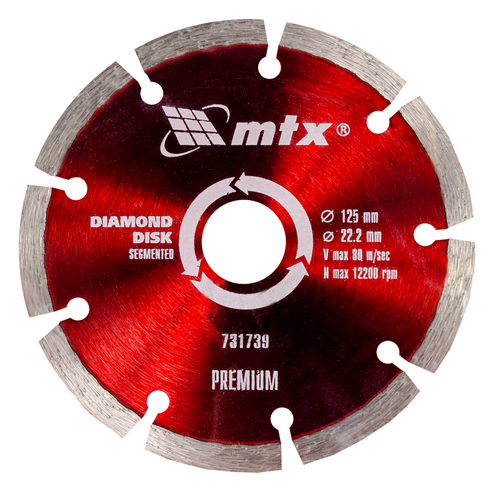 Disc Diamantat Taiere Uscata 125 X 22,2 mm Mtx Pr