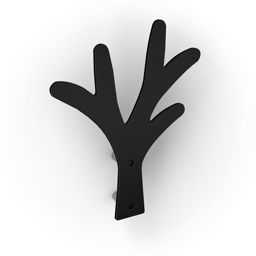 Agatator pentru haine tip copac, negru, 150 x 25 x 200 mm