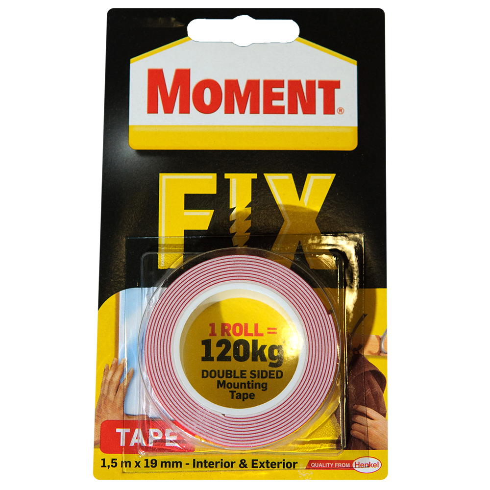 Banda dublu adeziva Moment Fix 1,5 m x 19 mm