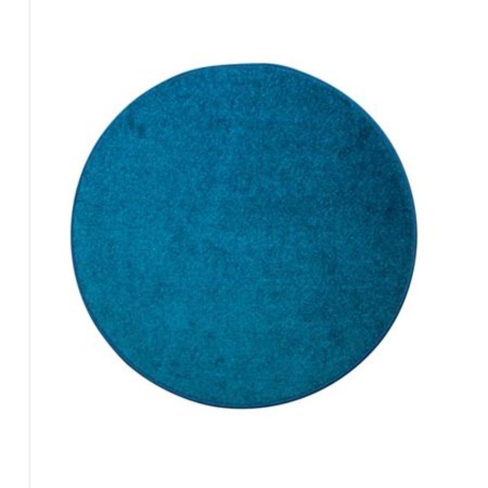 Covor rotund Rainbow, polipropilena friese, model modern albastru, diametru 80 cm imagine MatHaus.ro