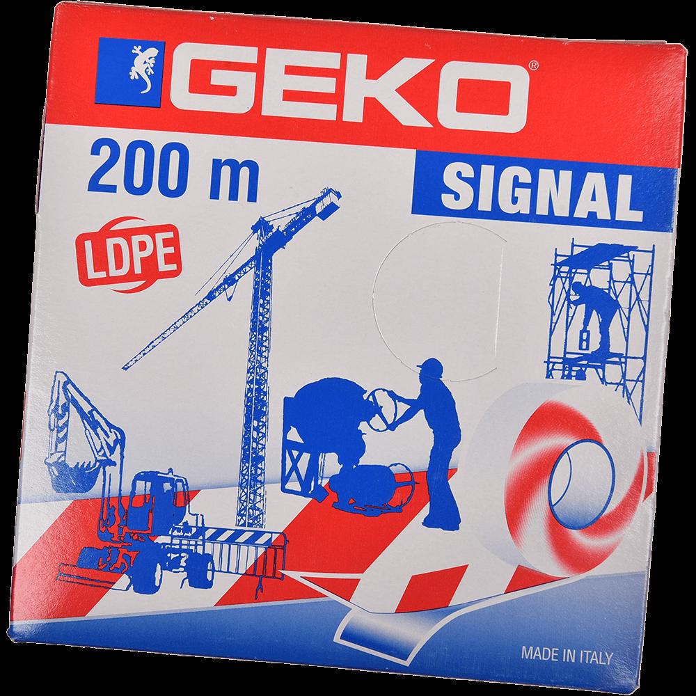 Banda reflectorizanta pentru delimitare/semnalizare, 70 mm x 200 m, alb / rosu imagine 2021 mathaus