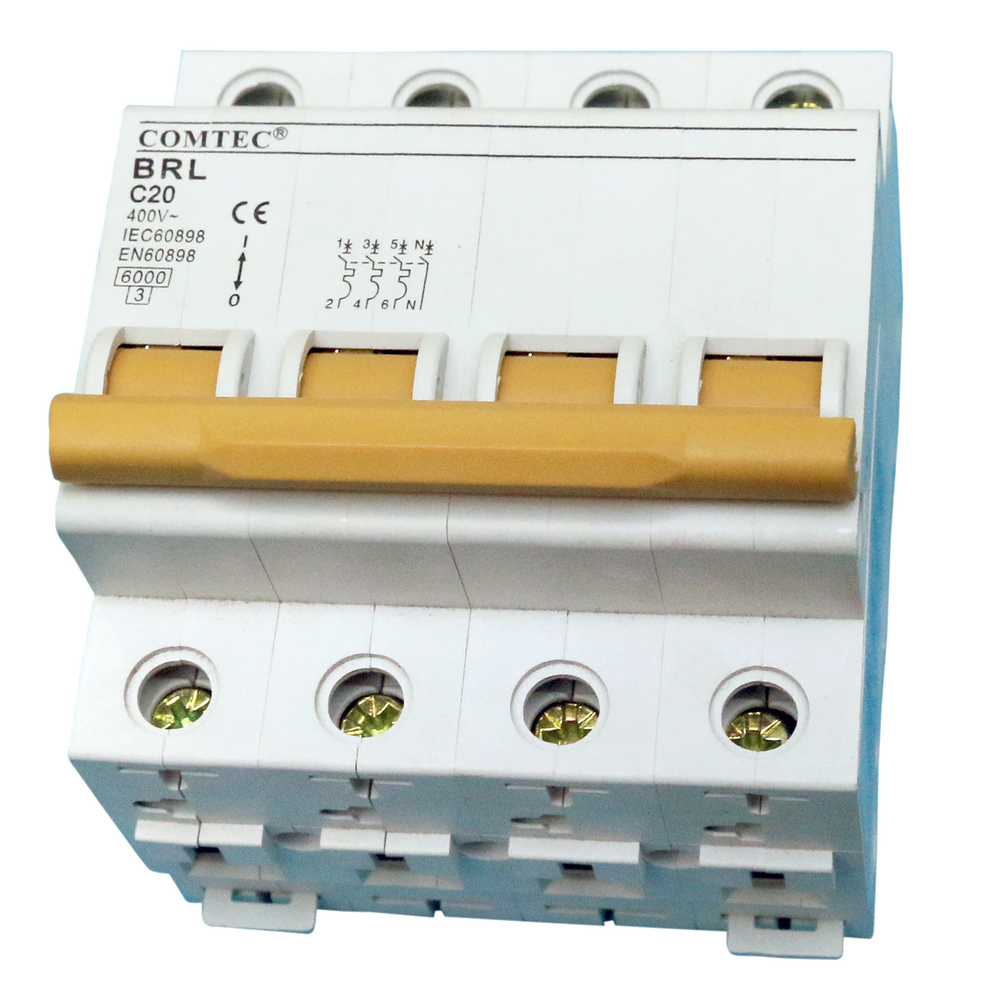 Intrerupator automat Comtec (MCB)-BRL, 3N, 20A imagine MatHaus.ro