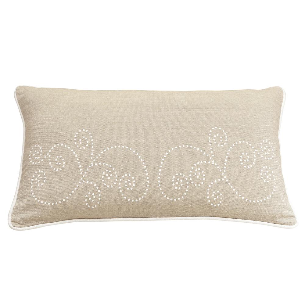 Perna decorativa Dream, model elegant, 100% bumbac, 30 x 50 cm, natur mathaus 2021