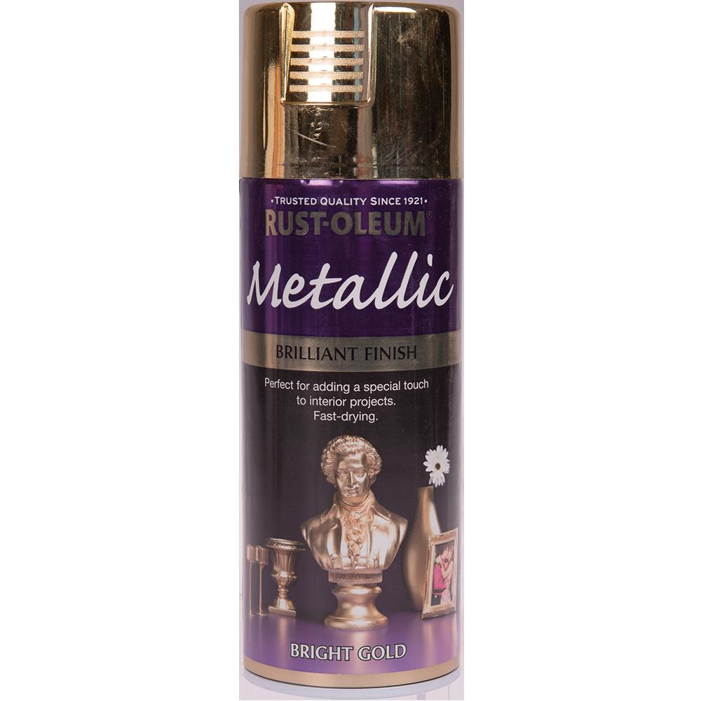 Spray metallic auriu luminos 400 ml