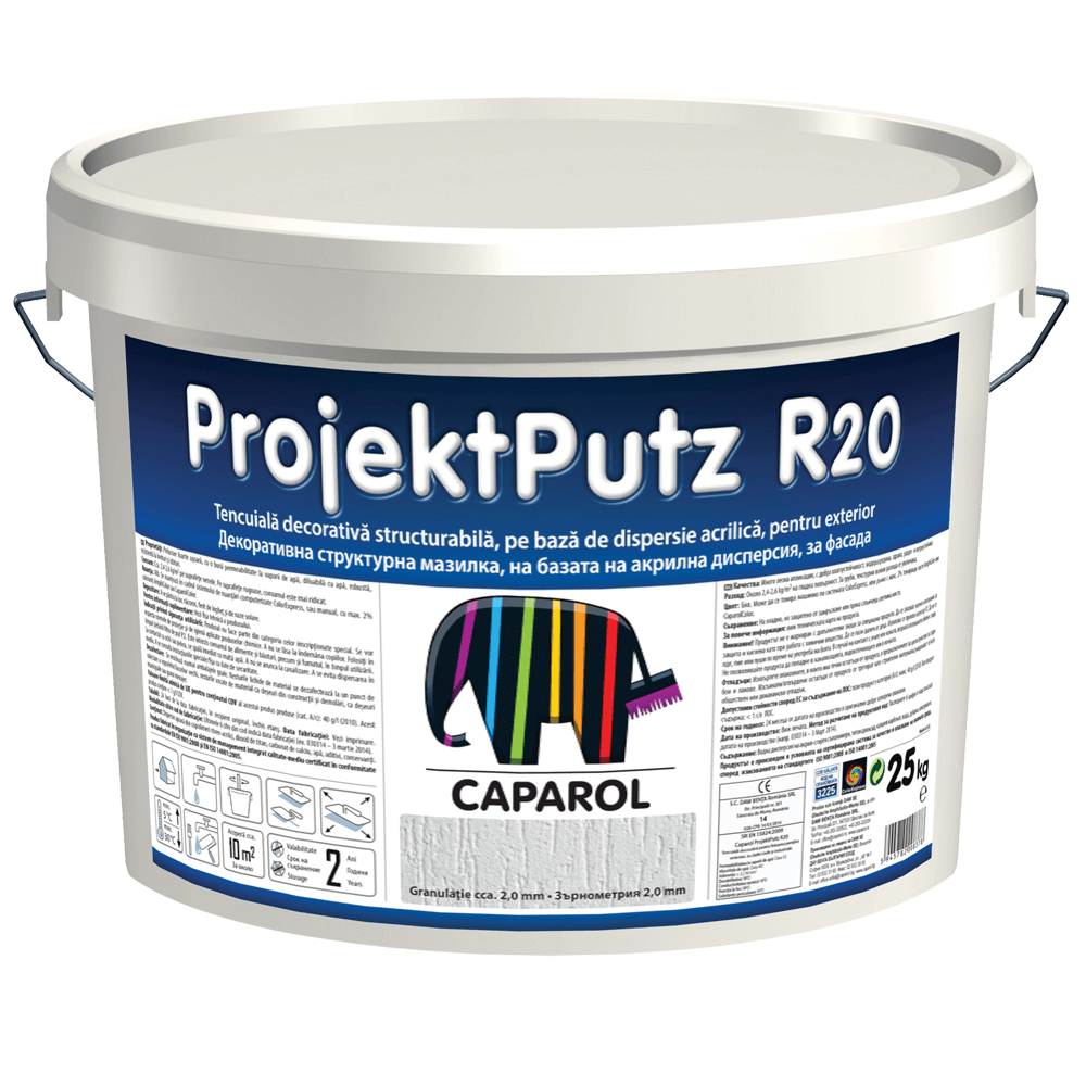 Tencuiala decorativa structurabila, Caparol ProjectPutz R20, 25 kg imagine 2021 mathaus
