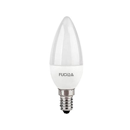 Bec LED Fucida, lumanare, E14, 8W, 720 lm, lumina alba rece 6500 K