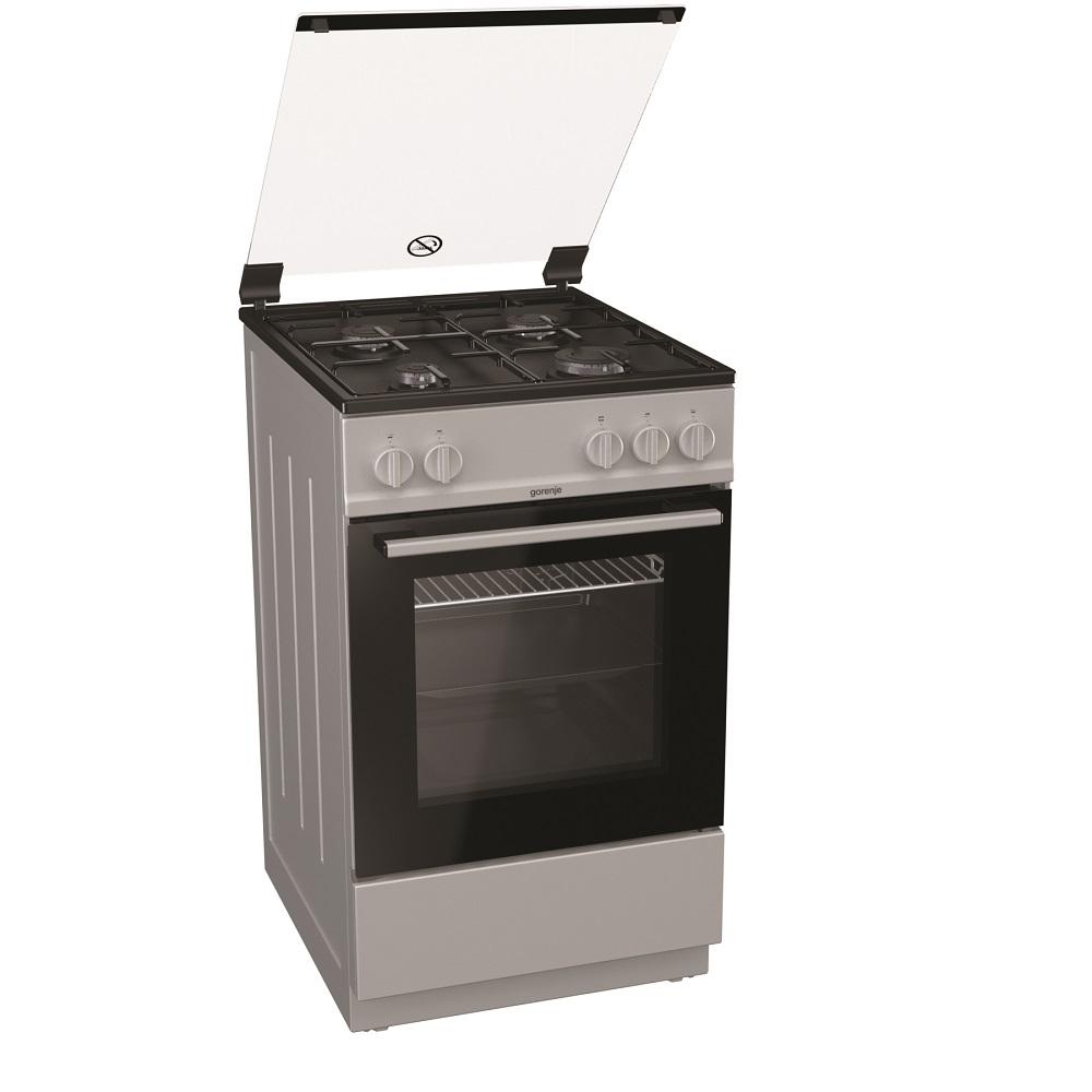Aragaz Gorenje G5111SJ, 50 × 85 × 59,4 cm, gaz, cuptor 70 l, gri metalic imagine 2021 mathaus