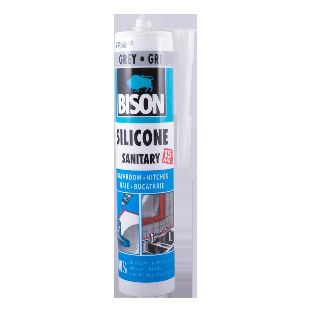 Silicon Sanitar Bison gri 280 ml