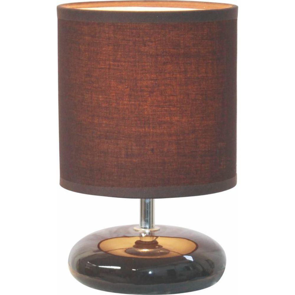 Veioza Mozart LY-4003, ceramica maro, textil, 1 x E14, 40W, 200 mm imagine 2021 mathaus