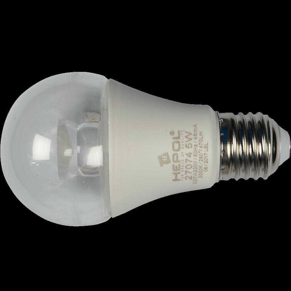 Bec Led Transparent E27 A60 5W Hepol Lumina Calda mathaus 2021