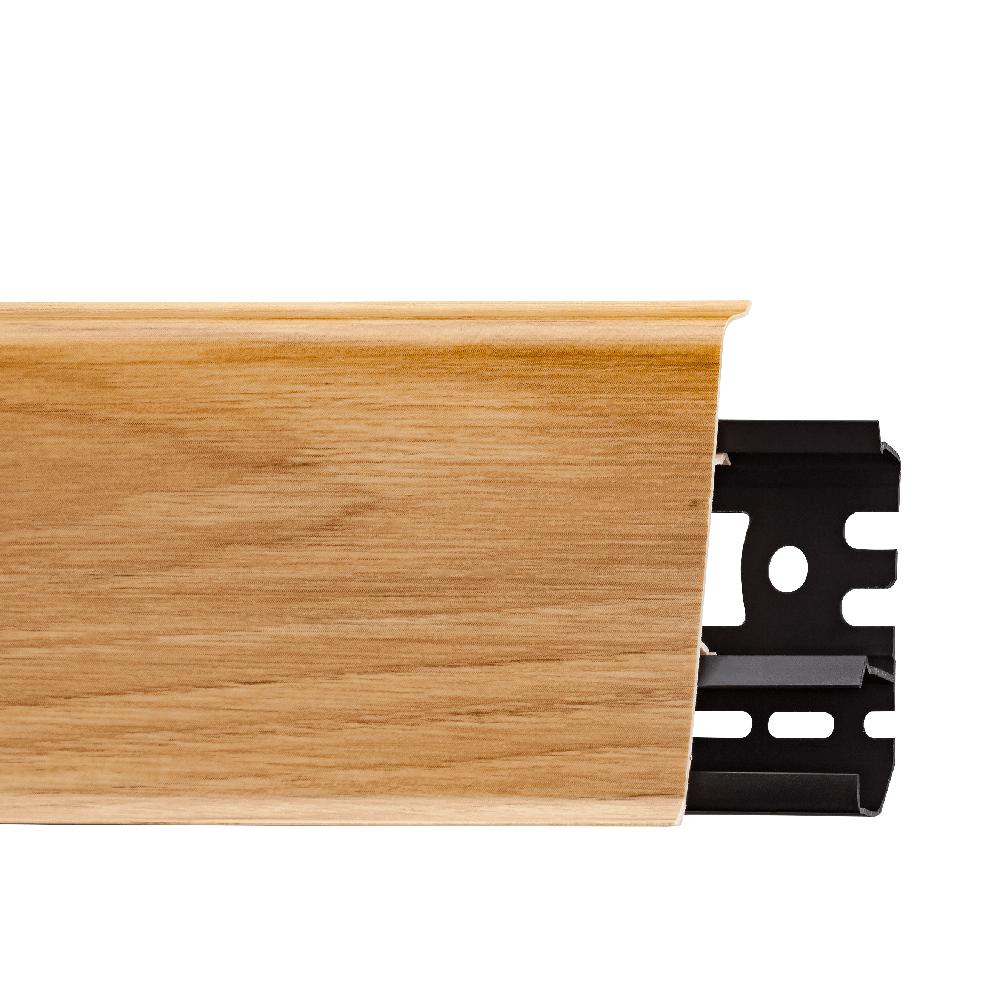 Plinta parchet, cu canal cablu, PVC, stejar liberty, INDO, 2500 mm imagine MatHaus