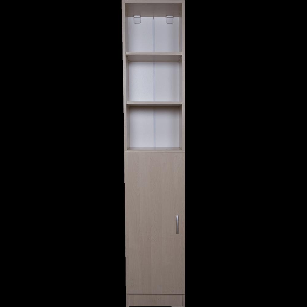 Dulap cu rafturi pal melaminat, mesteacan, 40 x 28 x 202 cm