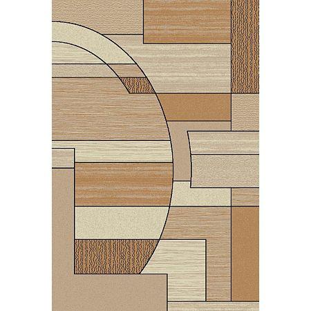 Covor modern Lotus 538/180, polipropilena heat-set, model bej, 150 x 230 cm