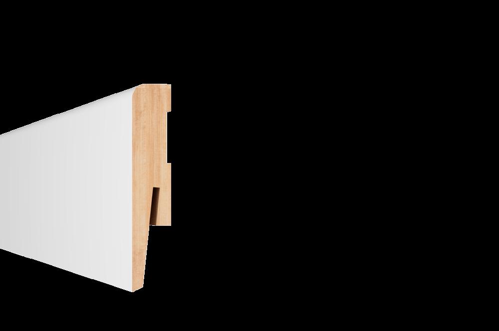 Plinta parchet, MDF,  alb, Paint it MP0801, 2420x80 mm imagine MatHaus