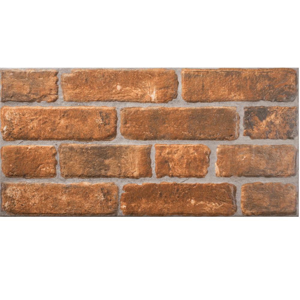 Placa portelanata Ispan Lux Palermo Teracota PEI 4, maro, finisaj mat, aspect de piatra, dreptunghiulara, 30 x 60 cm mathaus 2021